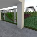 Tường xanh ngoài sân